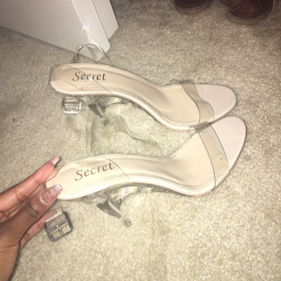 57cac8ca1be Prettylittlething Clear Heels. M 5ade430e9a945527e8d8dbb0